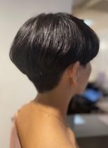 大人ショート×重めマッシュ(髪型ショートヘア)