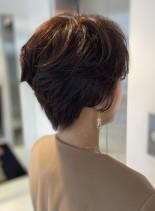 大人ひし形ショートレイヤー(髪型ショートヘア)