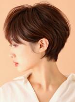 耳に掛けれる丸みショートボブ☆(髪型ショートヘア)