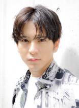 大人センターパートメンズスタイル(髪型メンズ)