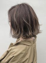 髪を柔らかく見せるハイライト!!(髪型ボブ)