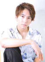 アップバングウェーブヘアネープレス(髪型メンズ)