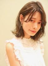 ゆるふわニュアンスボブディ(髪型ミディアム)