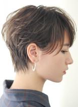 丸みのある大人レイヤーショート◇(髪型ショートヘア)