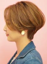 手入れ簡単☆大人女性の上品なショートボブ(髪型ショートヘア)