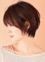 小顔美人◇柔らかいショートボブ(髪型ショートヘア)