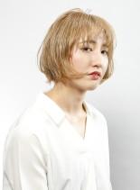 ブロンディボブ(髪型ボブ)
