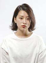 外ハネニュアンスボブ(髪型ボブ)