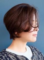 ふんわりセクシーショート(髪型ショートヘア)