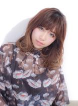 モテ髪☆大人フェミニンロブ(髪型ミディアム)