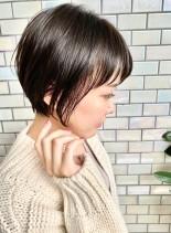 30代・40代◎ナチュラルな丸みショート(髪型ショートヘア)