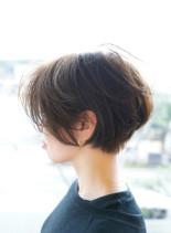 大人カジュアルハンサムショート(髪型ショートヘア)