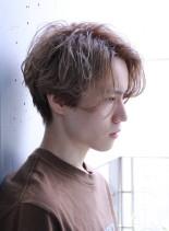 ウェーブセンターパート☆ハチ張り解消☆(髪型メンズ)