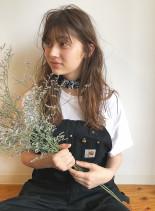 ブランジュグラデーション(髪型ロング)