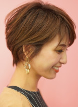 手入れ簡単☆大人女性の丸みショートヘア(髪型ショートヘア)