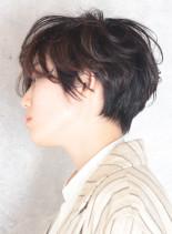 エアリーショートパーマ(髪型ショートヘア)
