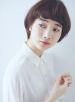 小顔効果◎くせ毛風センシュアルショート(髪型ショートヘア)