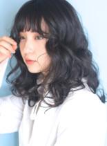 ボリュームウェーブ◇外国人風セミディ(髪型セミロング)