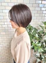 30代・40代◎ふんわり丸みショート(髪型ショートヘア)