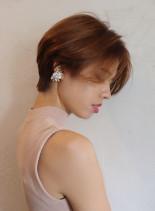 40代50代 米倉涼子風ショートカット(髪型ショートヘア)