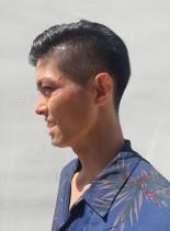 ハイ刈り上げビジネスショート(髪型メンズ)