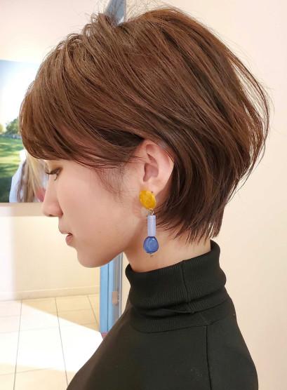 耳に掛けられる☆ふんわりショートボブ(髪型ショートヘア)