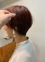 襟足すっきり大人可愛いショートヘア(髪型ショートヘア)