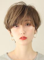 面長丸顔におすすめのひし形ショートヘア◇(髪型ショートヘア)