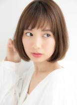 大人の艶感ナチュラルボブスタイル(髪型ボブ)