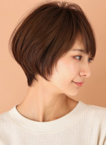 ひし形シルエット◇小顔ショート(髪型ショートヘア)