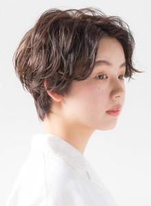 ハンサムショート☆ゆるくしゃパーマ(ビューティーナビ)