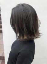 髪質を柔らかく!!ナチュラルハイライト!(髪型ボブ)