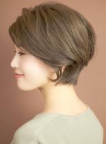グレージュショートボブ☆スポンテニア(髪型ショートヘア)