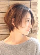 34.5才〜のひし形ナチュラルショート(髪型ショートヘア)