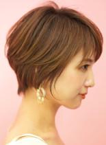 手入れ簡単☆大人のひし形丸みショートヘア(髪型ショートヘア)