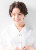 ハンサムショート☆ゆるくしゃパーマ(髪型ショートヘア)