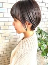 30代・40代◎自然な丸みショート(髪型ショートヘア)