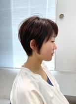 大人似合わせショートボブ(髪型ショートヘア)