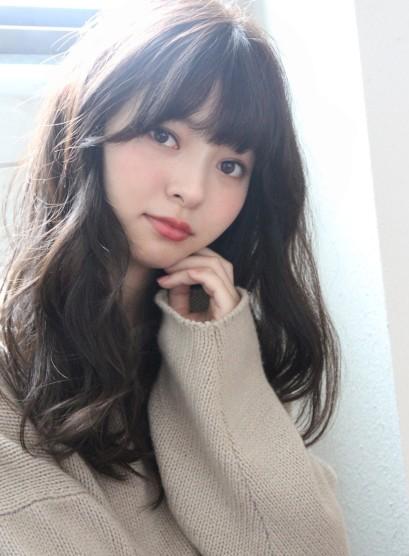 小顔似合わせカット☆デジタルパーマロング(髪型セミロング)