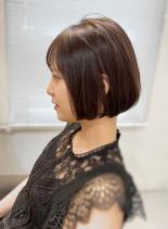 30代40代 似合わせミニマムボブ(髪型ボブ)