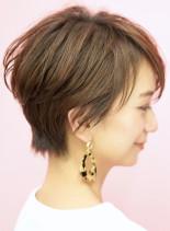 手入れ簡単☆大人女性のショートボブ(髪型ショートヘア)