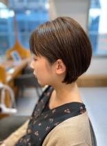 30代 似合わせ大人ショートボブ(髪型ショートヘア)