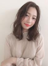 大人かわいい小顔効果ひし形シルエット☆(髪型セミロング)