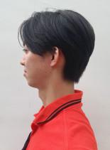 ナチュラルハンサムショート(髪型メンズ)