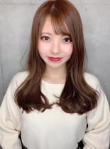 ブランジュカラーのロング(髪型ロング)