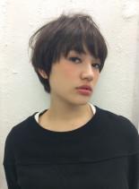 30代大人ショートボブ大人可愛いスタイル(髪型ショートヘア)