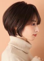 まとまりやすい☆丸みショートボブ(髪型ショートヘア)