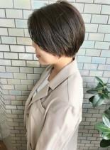 30代・40代◎大人女性の丸みショート(髪型ショートヘア)