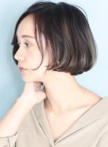 マチルダ風切りっぱなしショートボブ(髪型ショートヘア)