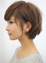 40代50代 お手入れ簡単ショートボブ(髪型ショートヘア)